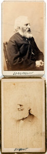 Photography:CDVs, [Carte de Visite]. Two Cartes de Visite of William Cullen Bryant and Henry Wadsworth Longfellow. Various backmarks. Each...