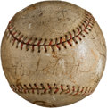 Autographs:Baseballs, 1932 New York Yankees Partial Team Signed Baseball....