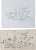 Animation Art:Production Drawing, Winnie the Pooh Consumer Product Preliminary IllustrationAnimation Art Group (Walt Disney, 1990s).... (Total: 2 OriginalArt)