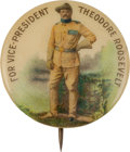 Political:Pinback Buttons (1896-present), Theodore Roosevelt: Standing Rough Rider V.P. Button....