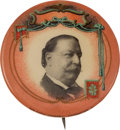 Political:Pinback Buttons (1896-present), William Howard Taft: Gorgeous Picture Pin....