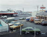 STEPHEN SHORE (American, b. 1947) 5th Street and Broadway, Eureka, CA, 1974 Chromogenic print 8-7