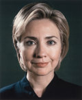 Photographs, CHUCK CLOSE (American, b. 1940). Hillary (Portrait View), 2000. Ink jet, full color print. 20 x 16-1/2 inches (50.8 x 41...