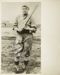 Autographs:Photos, 1940's Babe Ruth Signed Photograph in Boston Red Sox Uniform. ...