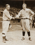 Baseball Collectibles:Photos, 1916 John McGraw & Christy Mathewson News Photograph....