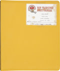 Football Collectibles:Others, 1985 Bill Walsh Super Bowl XIX Offense and Special Teams Playbook....