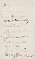 Autographs:Index Cards, 1934 New York Yankees & Chicago White Sox Signed Index Card with Babe Ruth....