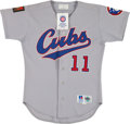 Baseball Collectibles:Uniforms, 1994 Rey Sanchez Game Worn Chicago Cubs Jersey, Game Used Glove& Bat. ...