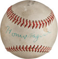 Autographs:Baseballs, Circa 1955 Honus Wagner Single Signed Baseball....