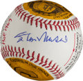 Autographs:Baseballs, Circa 2012 Stan Musial Single Signed Portrait Baseball....