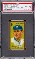 Baseball Cards:Singles (Pre-1930), 1911 T205 Hassan Irvin Wilhelm (Suffered) PSA EX-MT 6 - Only OneHigher! ...