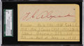 Autographs:Others, Circa 1940 Grover Cleveland Alexander Signed Cut Signature....