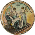 Political:Pinback Buttons (1896-present), William McKinley: Pro-Expansion Latin Button....