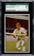 Baseball Cards:Singles (1950-1959), 1953 Bowman Color Phil Rizzuto #9 SGC 96 Mint 9 - The Finest SGCExample! ...