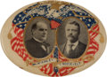 Political:Pinback Buttons (1896-present), McKinley & Roosevelt: Great Oval Jugate....