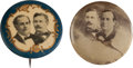 Political:Pinback Buttons (1896-present), William Jennings Bryan: Cyclone Button and Bonus.... (Total: 2Pair)