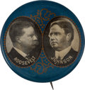Political:Pinback Buttons (1896-present), Roosevelt & Johnson: Large Filigree Jugate....