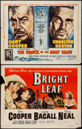 "Movie Posters:Drama, Bright Leaf & Other Lot (Warner Brothers, 1950). Half Sheets (2) (22"" X 28""). Drama.. ... (Total: 2 Items)"