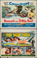 "Movie Posters:Adventure, Beneath the 12-Mile Reef & Other Lot (20th Century Fox, 1953).Half Sheets (2) (22"" X 28""). Adventure.. ... (Total: 2 Items)"