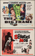 "Movie Posters:Crime, The Scarface Mob & Other Lot (Desilu, 1962). Half Sheets (2) (22"" X 28""). Crime.. ... (Total: 2 Items)"