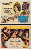 """Movie Posters:Documentary, A Queen is Crowned and Other Lot (Universal International, 1953). Half Sheets (2) (22"""" X 28"""") Style A & Regular. Documentary... (Total: 2 Items)"""