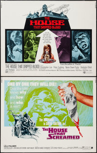 """The House that Dripped Blood & Other Lot (Cinerama Releasing, 1971). Half Sheets (2) (22"""" X 28""""). Horr..."""