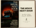 Books:Horror & Supernatural, Anne Rivers Siddons. SIGNED. The House Next Door. New York: Simon and Schuster, 1978. First edition. Signed by the a...