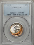 Washington Quarters: , 1950-D 25C MS67 PCGS. PCGS Population (53/0). NGC Census: (190/1).Mintage: 21,075,600. Numismedia Wsl. Price for problem f...