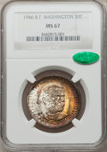 Commemorative Silver: , 1946 50C Booker T. Washington MS67 NGC. CAC. NGC Census: (61/0).PCGS Population (67/1). Mintage: 1,000,546. Numismedia Wsl...