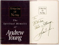 Books:Religion & Theology, Andrew Young. SIGNED. A Way Out of No Way: The Spiritual Memoirs of Andrew Young. Nashville: Thomas Nelson, 1994. Fi...