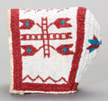 American Indian Art:Beadwork and Quillwork, A SIOUX GIRL'S BEADED HIDE BONNET. c. 1910...