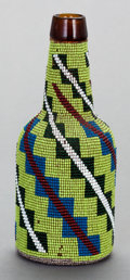 American Indian Art:Beadwork and Quillwork, A GREAT BASIN BEADED BOTTLE. ...