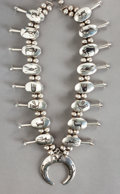 American Indian Art:Jewelry and Silverwork, A LARGE COCHITI SILVER SQUASH BLOSSOM NECKLACE. Joseph H. Quintana.c. 1965...
