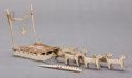 American Indian Art:Wood Sculpture, TWO ESKIMO CARVED BONE/IVORY ITEMS... (Total: 2 )