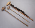 American Indian Art:Pipes, Tools, and Weapons, THREE PLAINS STONE HEAD CLUBS. c. 1870... (Total: 3 )