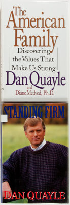 Dan Quayle. SIGNED. Standing Firm and The American Family. New