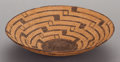 American Indian Art:Baskets, A PIMA COILED TRAY. c. 1900...