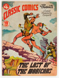 Golden Age (1938-1955):Classics Illustrated, Classic Comics #4 The Last of the Mohicans - First Edition(Gilberton, 1942) Condition: Apparent VG....