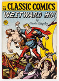 Golden Age (1938-1955):Classics Illustrated, Classic Comics #14 Westward Ho! - First Edition (Gilberton, 1943)Condition: FN-....