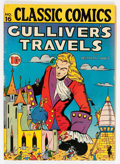 Golden Age (1938-1955):Classics Illustrated, Classic Comics #16 Gulliver's Travels - First Edition (Gilberton, 1943) Condition: FN....
