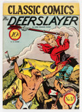 Golden Age (1938-1955):Classics Illustrated, Classic Comics #17 The Deerslayer - First Edition (Gilberton, 1944)Condition: FN....