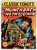 Golden Age (1938-1955):Classics Illustrated, Classic Comics #18 The Hunchback of Notre Dame - First Edition 1A(Gilberton, 1944) Condition: FN-....