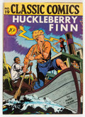 Golden Age (1938-1955):Classics Illustrated, Classic Comics #19 Huckleberry Finn - First Edition 1A (Gilberton,1944) Condition: Apparent VG+....
