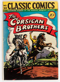 Golden Age (1938-1955):Classics Illustrated, Classic Comics #20 The Corsican Brothers - First Edition 1A(Gilberton, 1944) Condition: VG+....