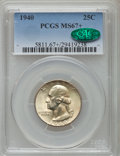 Washington Quarters: , 1940 25C MS67+ PCGS. CAC. PCGS Population (101/1). NGC Census:(161/0). Mintage: 35,715,248. Numismedia Wsl. Price for prob...