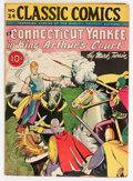 Golden Age (1938-1955):Classics Illustrated, Classic Comics #24 A Connecticut Yankee in King Arthur's Court -First Edition (Gilberton, 1945) Condition: VG....