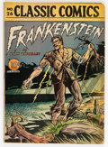 Golden Age (1938-1955):Classics Illustrated, Classic Comics #26 Frankenstein - First Edition (Gilberton, 1945)Condition: VG+....