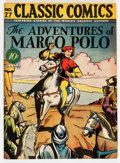 Golden Age (1938-1955):Classics Illustrated, Classic Comics #27 The Adventures of Marco Polo - First Edition(Gilberton, 1946) Condition: FN+....