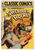 Golden Age (1938-1955):Classics Illustrated, Classic Comics #33 The Adventures of Sherlock - First Edition(Gilberton, 1947) Condition: FN....