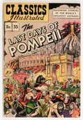 Golden Age (1938-1955):Classics Illustrated, Classics Illustrated #35 The Last Days of Pompeii - First Edition(Gilberton, 1947) Condition: VG+....